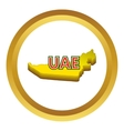 Map of UAE icon vector image