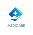 medic care hospital logo vector image
