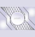 modern luxury white textured layer overlap vector image