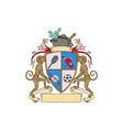 Monkey Money Cook Pot Sports Wine Coat of Arms vector image vector image
