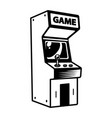 monochrome retro arcade game machine concept vector image