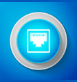 network port - cable socket icon lan port icon vector image vector image