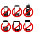 No phone sign set vector image
