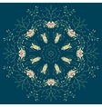 Ornamental lace pattern Circle vector image vector image