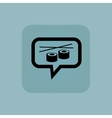 Pale blue sushi message icon vector image
