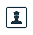 policeman icon Rounded squares button vector image vector image