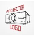 Projector line logo vector image vector image