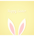 Rabbit ears Easter card vector image vector image