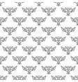 seamless pattern owl vector image vector image