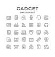 Set line icons gadget