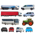 set of automobiles vector image