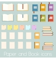 Set of flat book icons vector image vector image