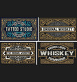 set whiskey labes layered vector image vector image