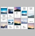 social networks stories design vertical banner vector image vector image