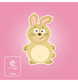 Stock icons with rabbit and chinese zodiac vector image vector image