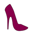 textured high heel shoe icon vector image