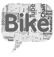 The Anatomy Of A Mountain Bike text background vector image vector image