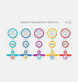 timeline template history of your company vector image vector image
