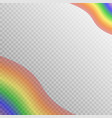 translucent rainbow design vector image vector image