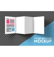 Trifold mockup on transparent background vector image