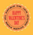 valentine day cards design template vintage vector image