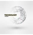 Wireframe mesh polygonal logo element Torus with vector image vector image