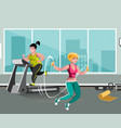 woman workout with jumping rope vector image vector image
