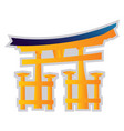 yellow and blue on a white background a shinto vector image vector image