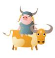 zodiac pig taurus chinese horoscope symbol 2019 vector image