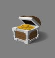 chest with gold in cartoon style pirate treasures vector image