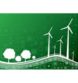 ecology concept green 2 vector image