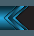 abstract blue metallic arrow direction with grey vector image vector image