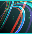 abstract curving lines ray of vector image vector image