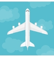 airplane top view near clouds vector image vector image