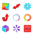 arrow pointer icons set cartoon style vector image vector image