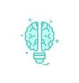 artificial brain intelligence icon design vector image vector image