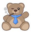 Bear smoking vector image vector image
