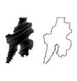 bekasi city republic indonesia java island map vector image vector image