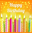 birthday card with candle vector image vector image