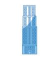 building skyscraper high facade urban vector image vector image