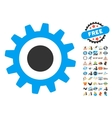 Cogwheel Icon With 2017 Year Bonus Symbols vector image vector image