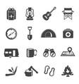collection flat icons - touristic gear vector image