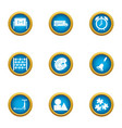 college of art icons set flat style vector image vector image