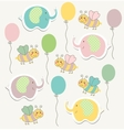 Colorful doodle templat for child baby shower vector image