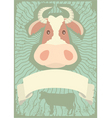 Cow grunge vector image