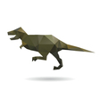 Dinosaur abstract isolated on a white backgrounds vector image