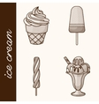 Etching ice cream vector image vector image