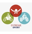extreme sport badge design icon vector image vector image