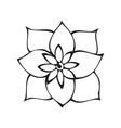Fantasy flower in tattoo style vector image vector image