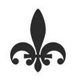 fleur de lis symbol black icon heraldic vector image vector image